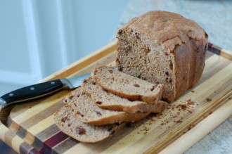 Whole-Wheat Cinnamon Raisin Bread (for Bread Machine)